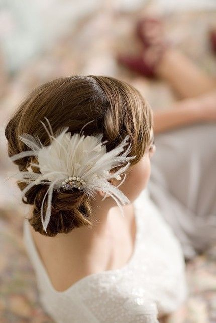 How to make a bridal feather fascinator