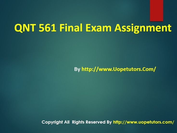 We specialize in providing you instant exam help to score the marks you have always dreamed. Get online help for the QNT 561 Final Exam course (University of Phoenix).