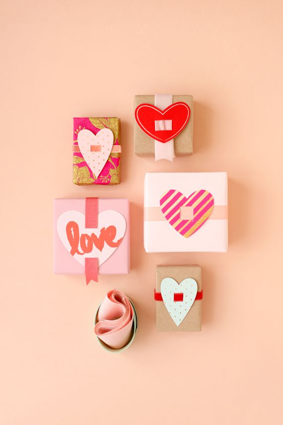 Valentine Present Toppers (LOVE this idea and might just steal it for packages year-round!)