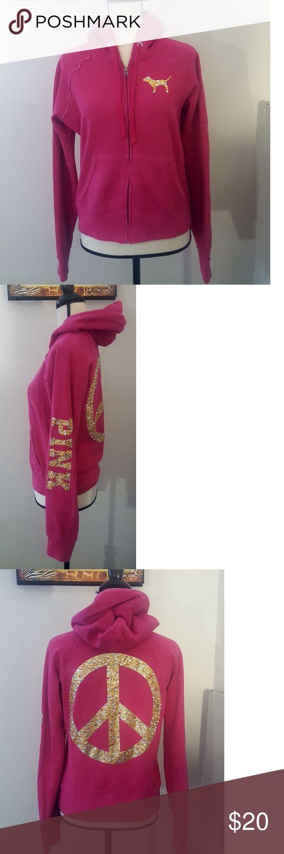 Victoria Secret PINK Zip up hoodie Great condition, pink, size medium PINK Tops Sweatshirts & Hoodies