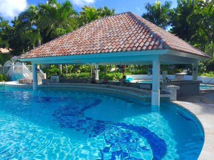I do love a swim-up bar! Swim up bar at Caribbean Grove Sandals Grande Antigua…