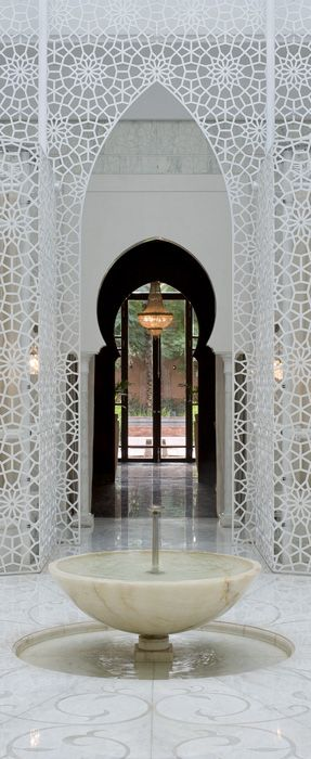 Beauty and Well-Being Centre - Royal Mansour Marrakech stencil ..like the other