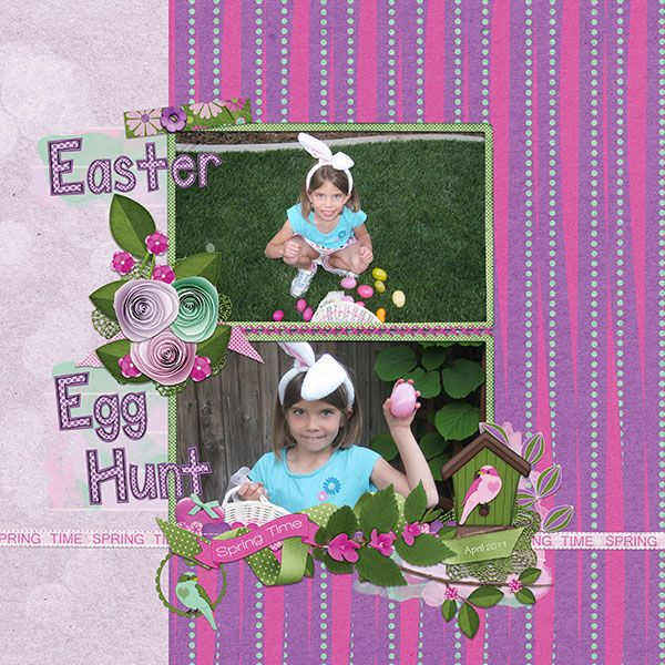 I enjoyed using this kit to scrap our granddaughter's Easter egg hunt!