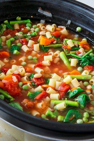 Crock Pot Minestrone | 21 Vegetarian Crock Pot Dinners
