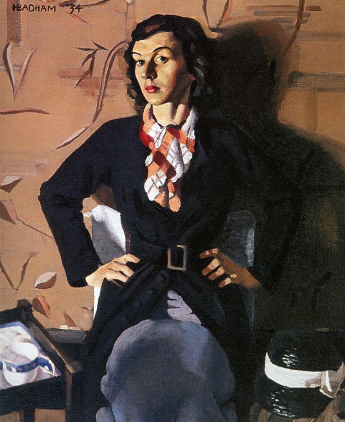 Portrait, 1934 by Herbert Badham (Australian 1899 – 1961)