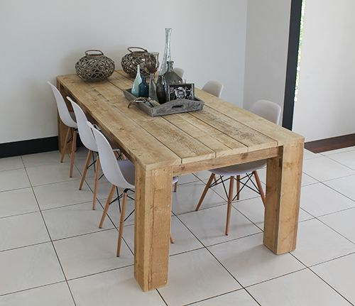 1000 images about eettafel hout inspiratie on pinterest washington bureaus and products - Eettafel personen ...