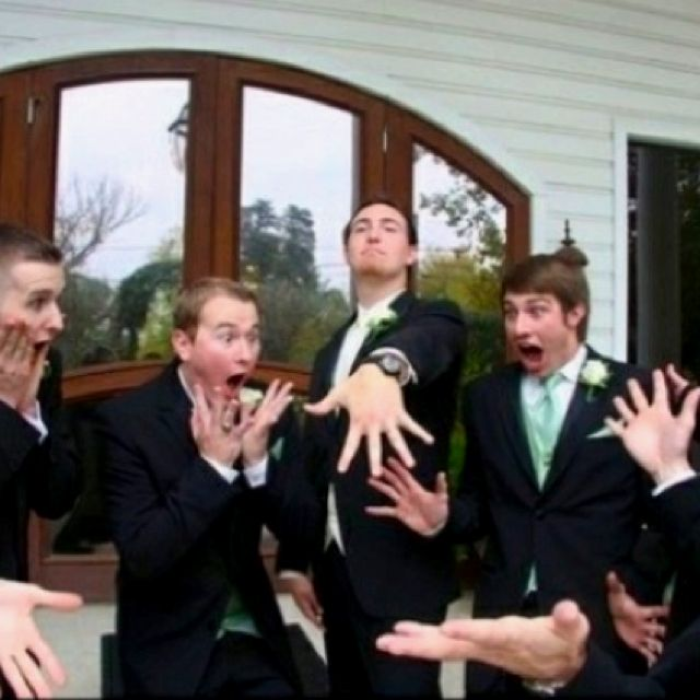 The ultimate groomsmen shot to share with your #wedding photographer. So funny! Depending on the personality of the groomsman...this would be the most perfect wedding party shot!! @deb rouse schwedhelm Cleveland...here is an idea as it is fun to have some off the wall photos like this with a group. btw...congrats!