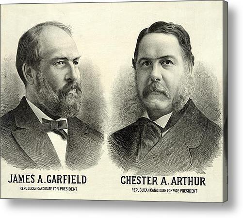 chester a arthur Vice President   chester arthur   James A Garfield For President And Chester Arthur For ...