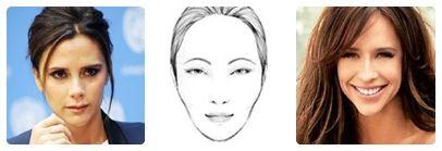 La cantante y diseñadora #VictoriaBeckham y la actriz #JenniferLove tienen el rostro con forma de corazón y triángulo invertido