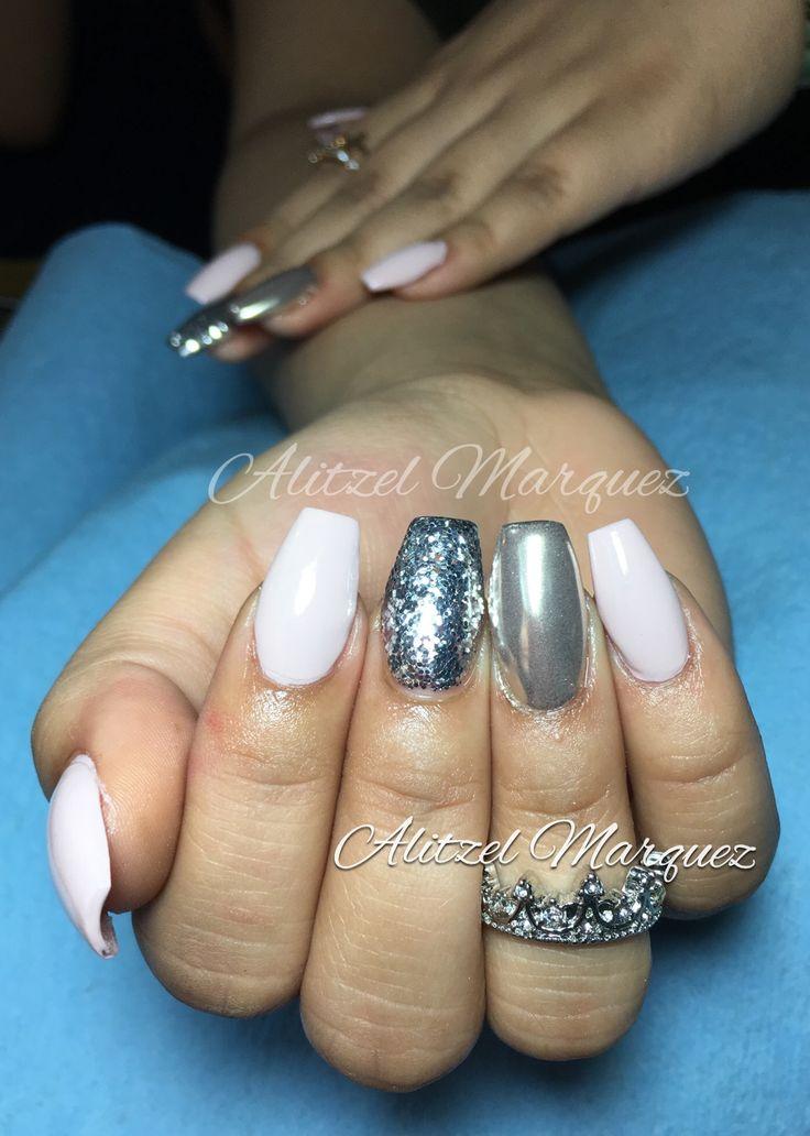 7 best Alitzel Marquez Nails images on Pinterest Mirror, Silver