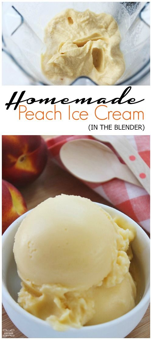 Homemade Peach Ice Cream in the Blender! DIY Ice Cream Recipe!