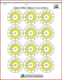free times table worksheets circle times tables 1 to 12 1