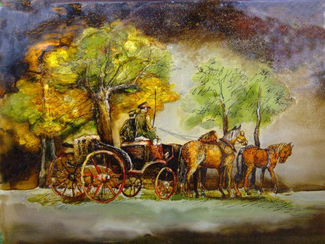BRYCZKA malowane na szkle Danuta Rożnowska-Borys, Ryszard Krawczyk - BorysArt