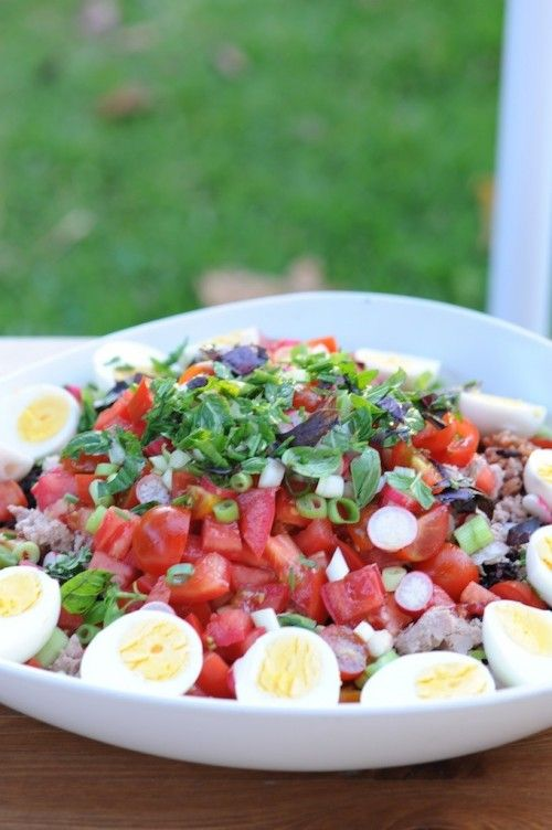 """Salade """"Bagnat"""" au deux riz de Camargue"""