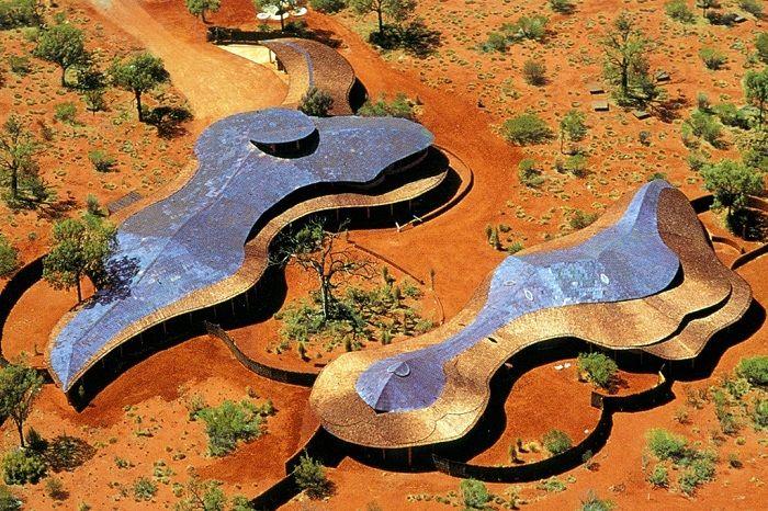 The remarkable architecture of the Uluru-Kata Tjuta Aboriginal Cultural Centre
