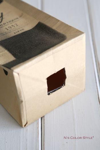 ★材料費ゼロ円♪ワインバッグをビニール袋のストッカーに   インテリアと暮らしのヒント