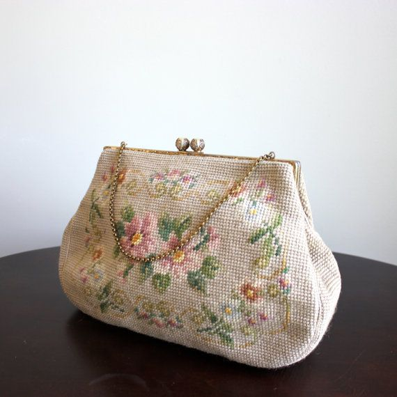 Christine Custom Bags/ Needle Point  Purse by thenunneryvintage, $65.00