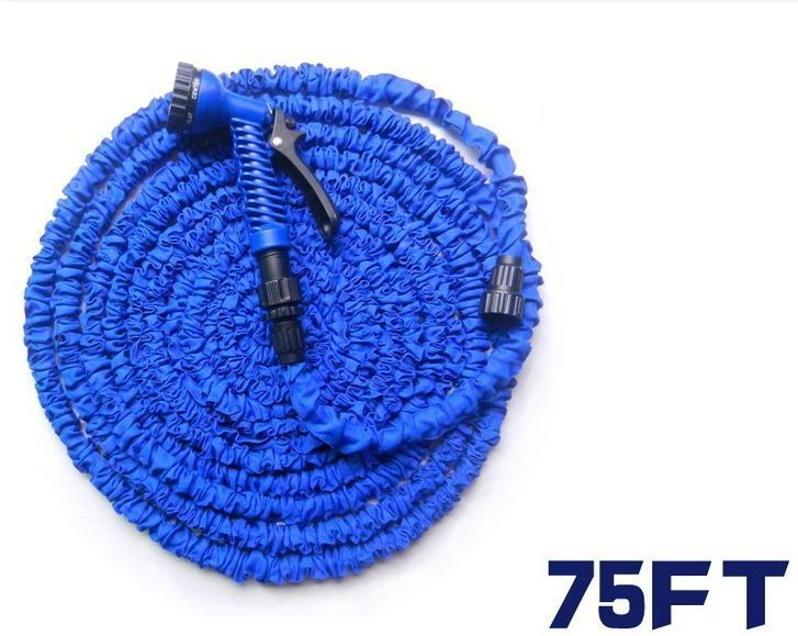 NEW 75FT Expandable Flexible Garden Water hose for Car valve with spray Gun #Unbranded