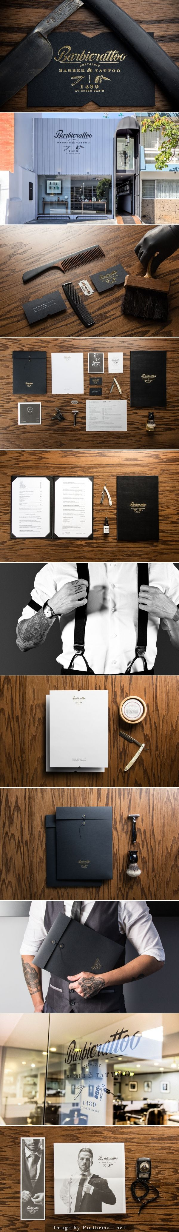 Cool Brand Identity Design. Barber  Tattoo Parlor Barbierattoo. #branding #brandidentity [http://www.pinterest.com/alfredchong/]