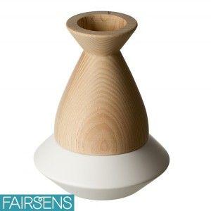 Bougeoir OVNI -- Céramique et frêne massif // Qualité made in France #décoration #éco-responsable