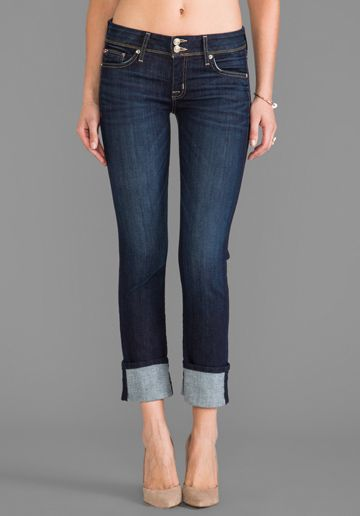 Hudson Jeans Ginny Cropped Denim in Stella