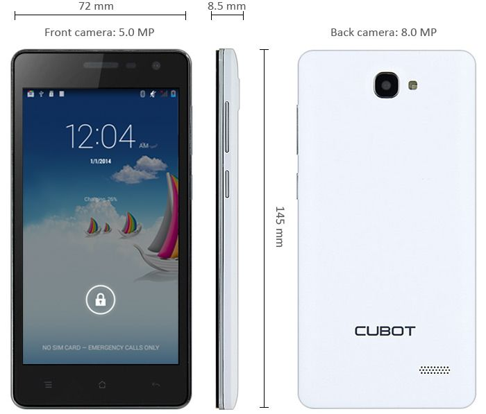 Cubot S168, Special Price from Dealsmachine - Mobiles-Coupons