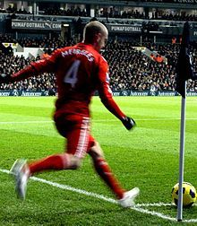 Raul Meireles with Liverpool FC