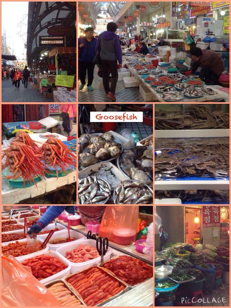 Korea - 2015 November.  Sokcho.  Tourist & Fishery Market, formerly known as Jungang Market.
