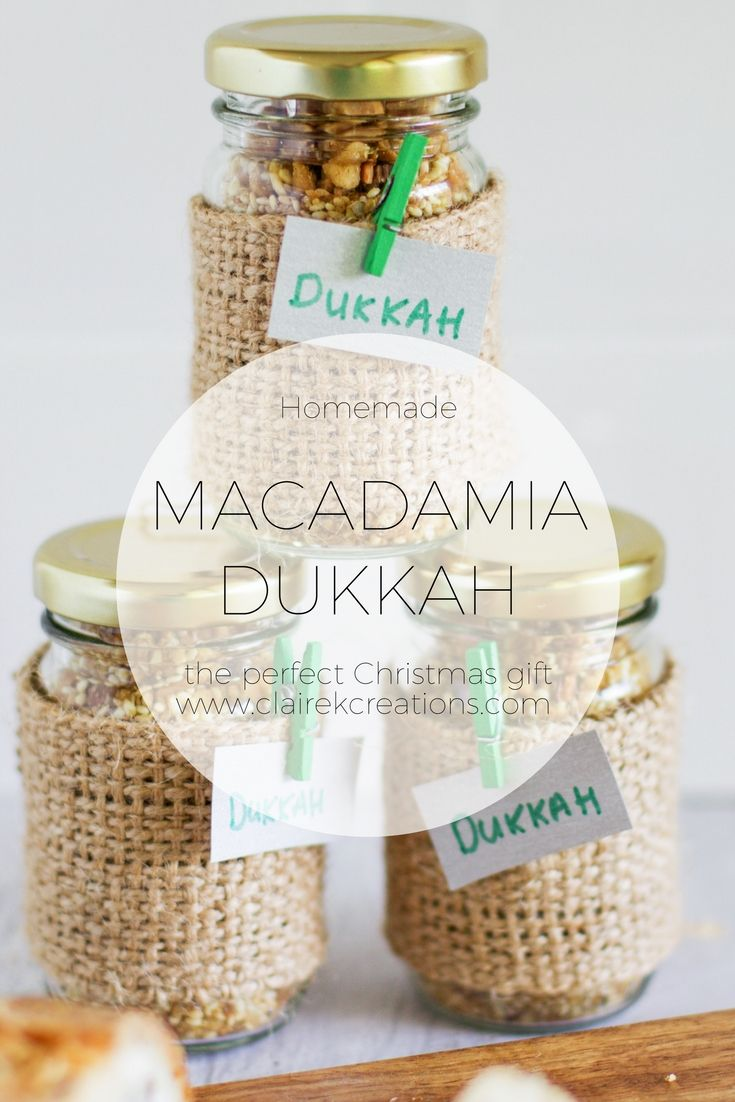 Macadamia Dukkah - Homemade Christmas gift and 10% discount on ingredients - Claire K Creations