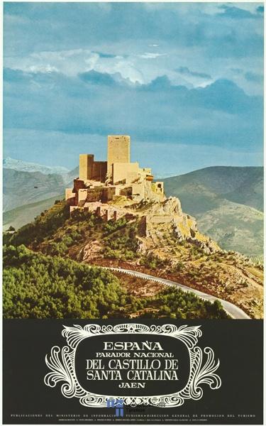 Parador de Jaen, Andalucia, Spain / Cartel de turismo de España vía #Viajology