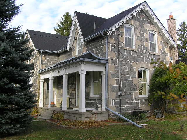 33 best ontario stone houses images on pinterest stone for Gothic revival farmhouse