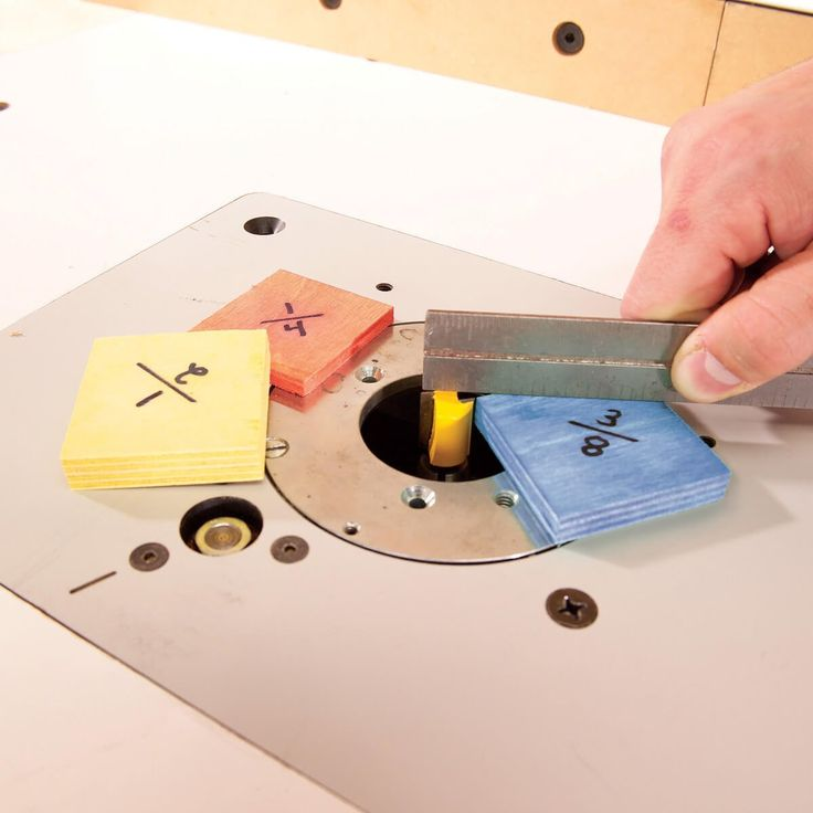 Go through your collection of scrap plywood and cut a few little squares of each thickness. Every time you work with a new plywood thickness, cut a few squares of it, too. Label each square with its thickness and keep them handy. They're great for measuring depths of grooves and gauging saw blade and router […]