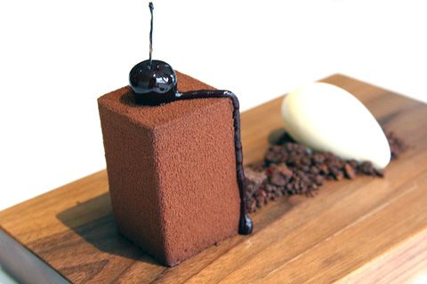 """The Fat Duck: The """"BFG"""": Black forrest gateau with kirsch ice cream."""