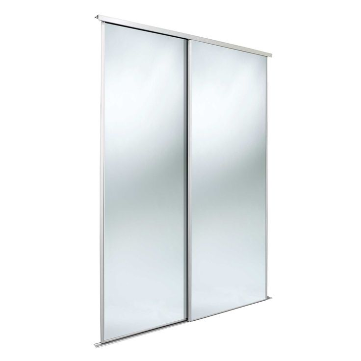 Classic Mirrored Mirror Sliding Wardrobe Door Kit H 2220