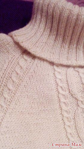 Уютный пуловер регланом или вариации на тему... - Вязание - Страна Мам