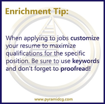 When applying to jobs... #enrichmenttips