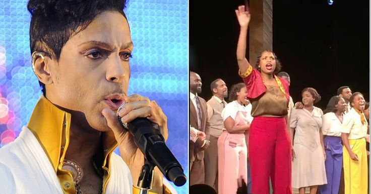 The Broadway cast of The Color Purple sang 'Purple Rain' to honor the late artist