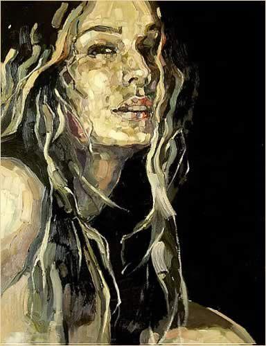 Galerie ART AFFAIR - Anna Bocek   Dark Room 1   Oil on Canvas   65 x 55 cm   sold