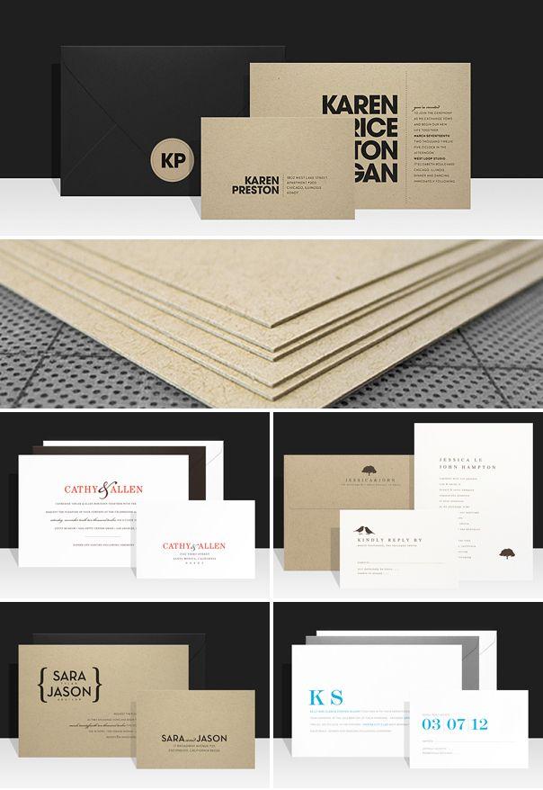 Paperee modern wedding invitations. This website has great invitations!