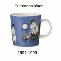 """Tummansininen (""""Muumipappa"""") (1991-1999)"""