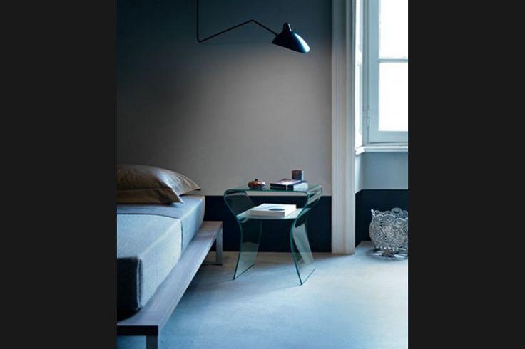 GlazenDesignTafel.nl | FIAM Design bijzettafel Charlotte de Nuit | by Prospero Rasulo | Italian Design | vidre glastoepassingen, Leiden | vidre.nl