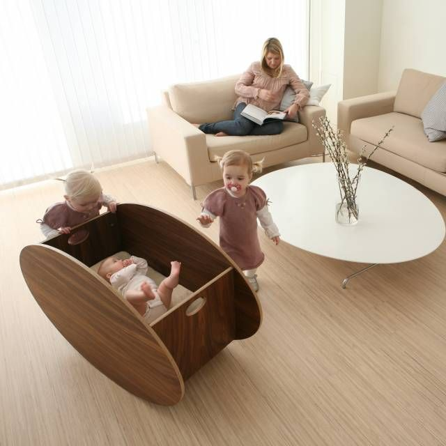 Wonder how easy it would be to DIY this cool bassinet/crib(original pin) Me... I wonder how the hell  this lady with three babies has time to curl up with a book in a spotless house!?!?!?