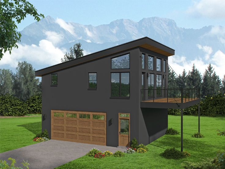 062g 0234 Modern Carriage House Plan Carriage House Plans House Plans Garage Apartment Plan