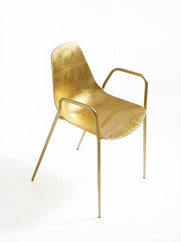 Chaise empilable en aluminium avec accoudoirs MAMMAMIA | Chaise avec accoudoirs by Opinion Ciatti