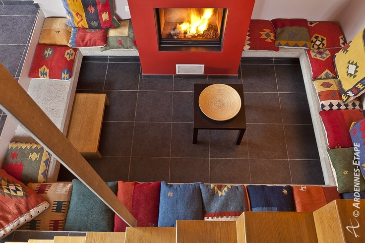 Holiday cottage for 8 pers. in Stoumont in the Ardennes (Belgium) – 105539-01 - We love the colors and the feeling of comfort of it.