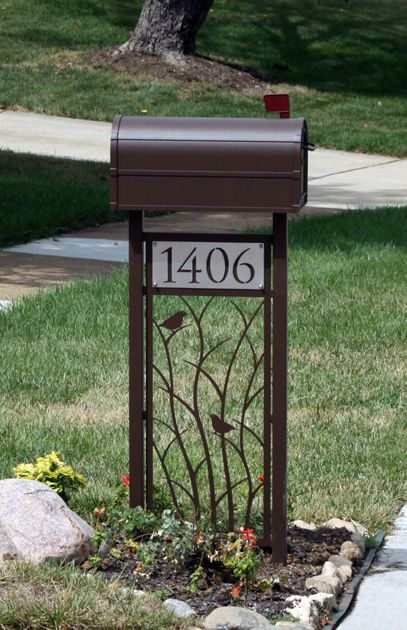 Best 25 mailbox post ideas on pinterest mailbox for Unique mailboxes with post