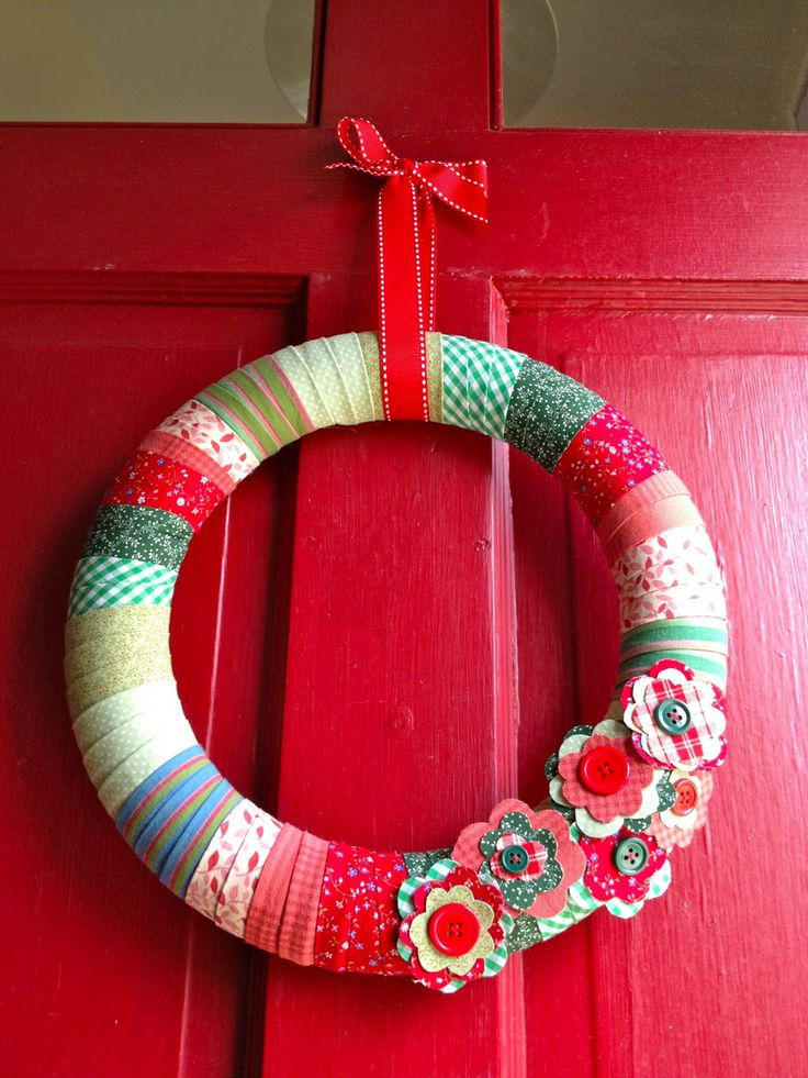DIY   Wreath Wraped With Fabric Thatu0027s My Letter: Christmas