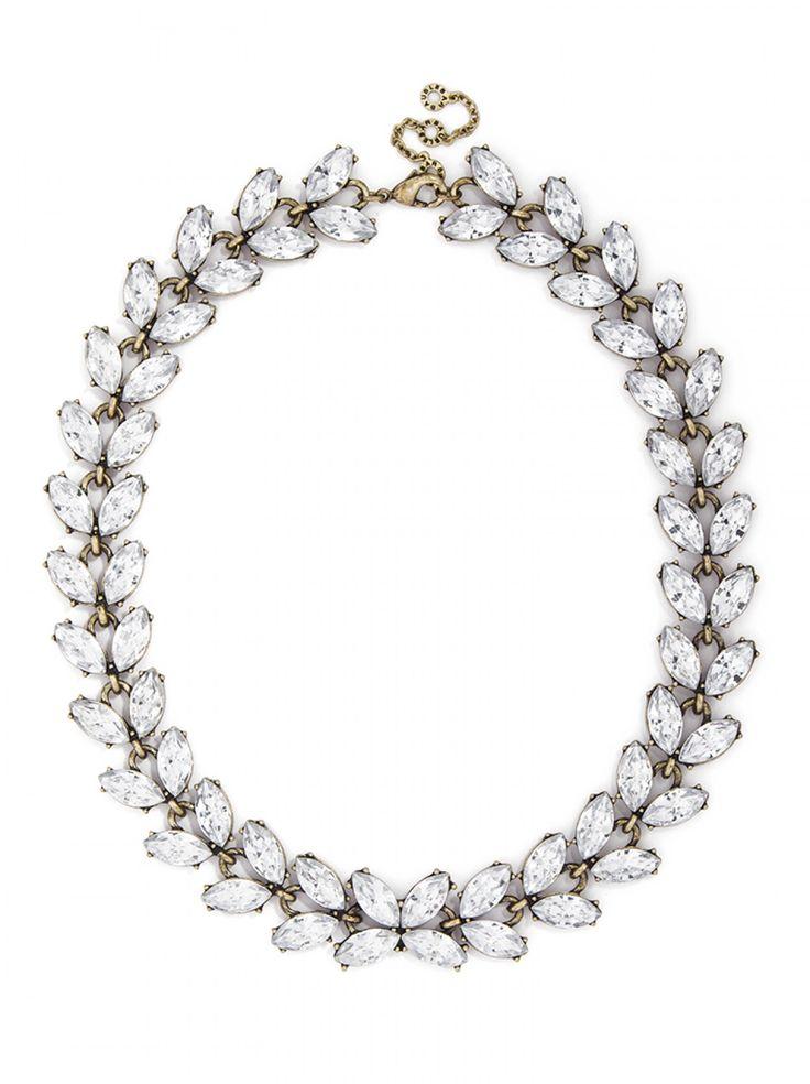 Crystal Garland Strand Necklace   BaubleBar