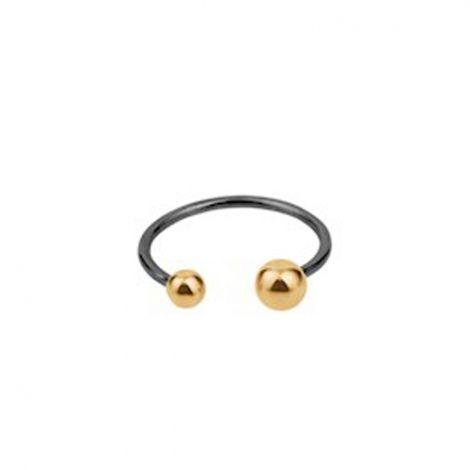 Pernille Corydon Ring, Pasodoble Two Tone, Rhodium/Guld