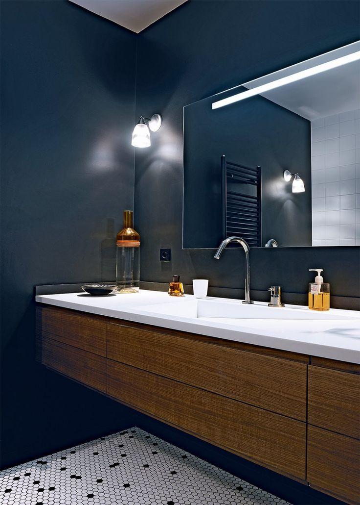 Une salle de bain en noir et blanc - Marie Claire Maison